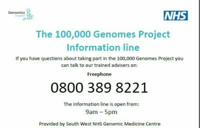 100,000 Genomes Project information line launched!!!